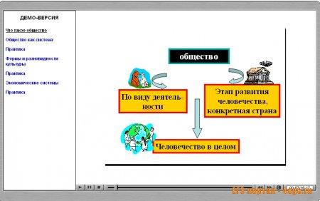 Программа с видеоуроками по обществознанию