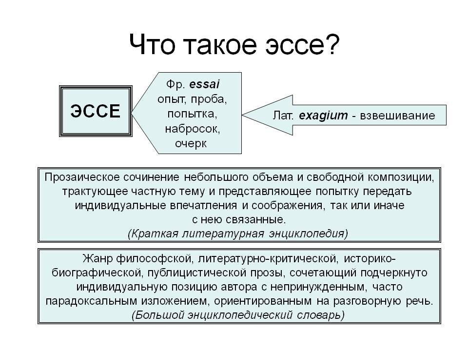 Общие сведения к эссе по обществознанию
