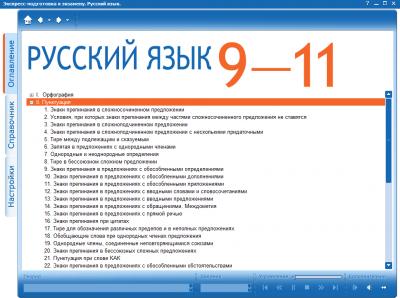 Программа по русскому языку. Быстрая подготовка к ЕГЭ