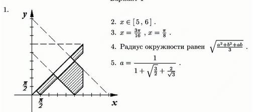 Задачи вступительных экзаменов по математике до ЕГЭ