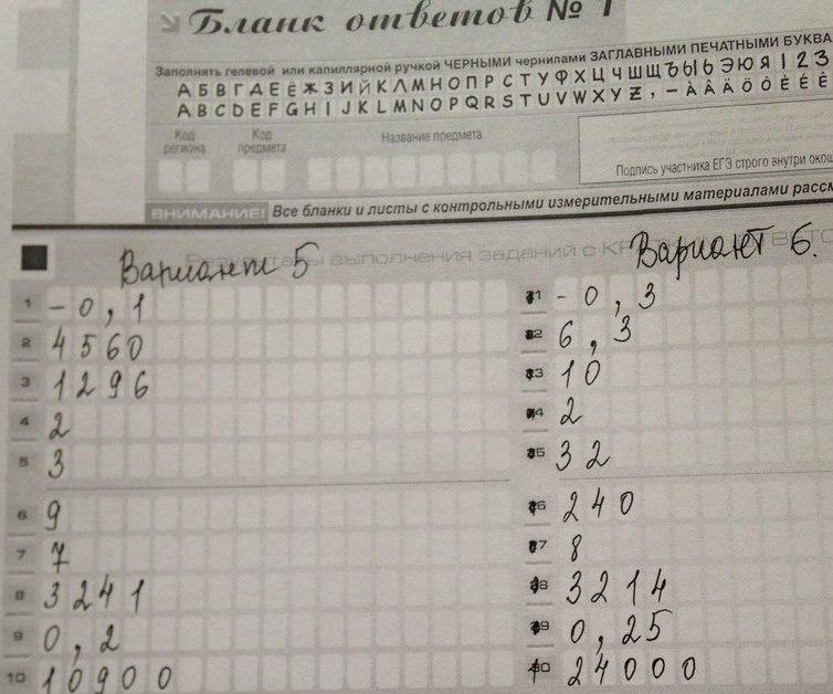 Тренировочные задания базового уровня ЕГЭ по математике
