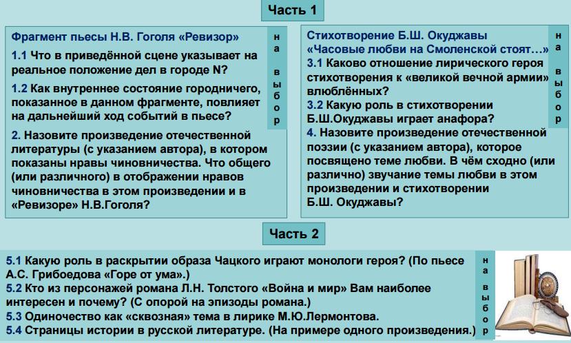 Новая модель ЕГЭ по литературе