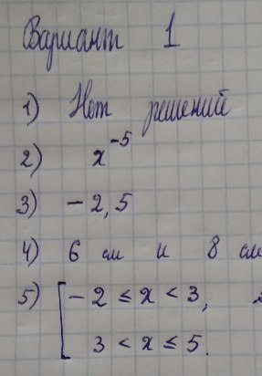Входная контрольная работа по математике для 10 класса