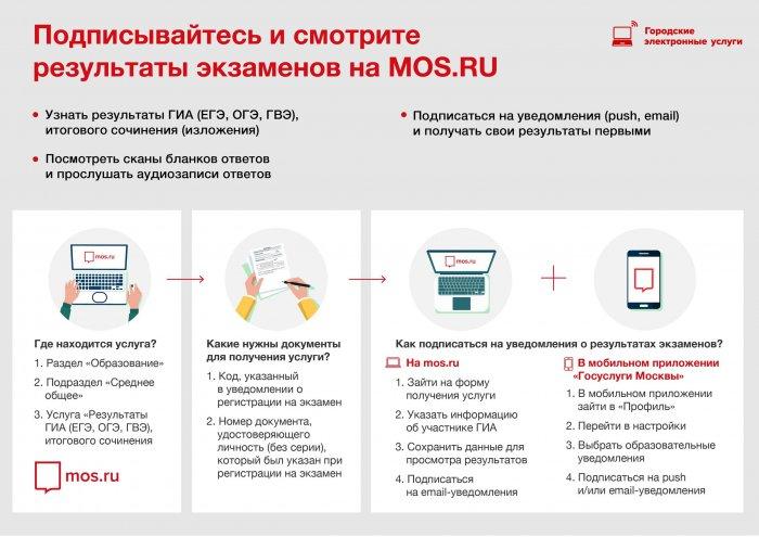 В Москве открылась подписка на онлайн-уведомления о результатах ЕГЭ и ОГЭ